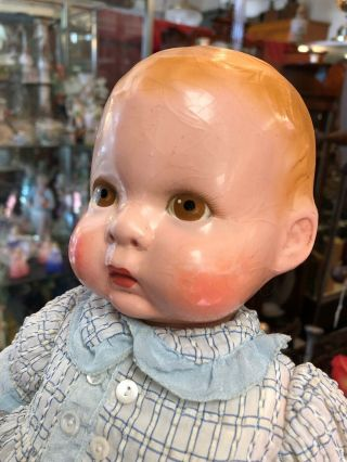 "Extremely Rare Antique 14"" Lenci Prosperity Baby Doll From 1933 11"