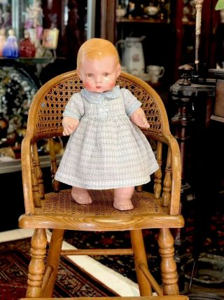 "Extremely Rare Antique 14"" Lenci Prosperity Baby Doll From 1933"