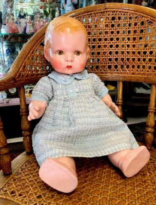 "Extremely Rare Antique 14"" Lenci Prosperity Baby Doll From 1933 2"