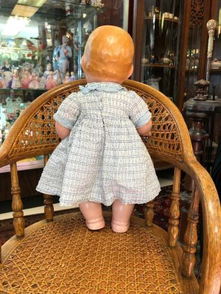 "Extremely Rare Antique 14"" Lenci Prosperity Baby Doll From 1933 8"