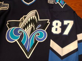 Sidney Crosby Rimouski Oceanic Game Worn/Issued Jersey Signed Penguins Rare 3