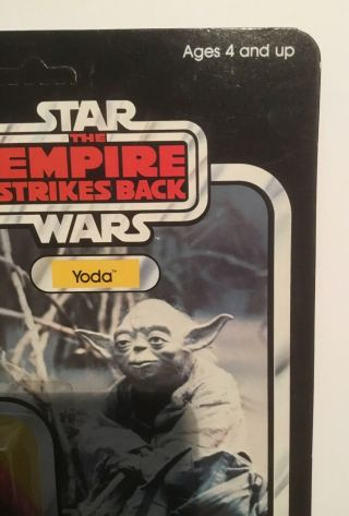 Vintage STAR WARS error Kenner TOLTOYS Snaggletooth on Yoda ESB 41 Bck TEST CARD 3