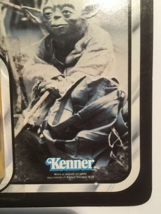 Vintage STAR WARS error Kenner TOLTOYS Snaggletooth on Yoda ESB 41 Bck TEST CARD 4