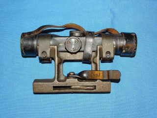 Rare Wwii German Gw Zf4 Dow Rifle Scope W/ Mount & Leather Lense Cover