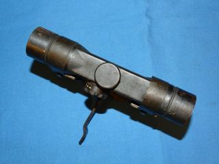 Rare WWII German Gw ZF4 dow Rifle Scope w/ Mount & Leather Lense Cover 5