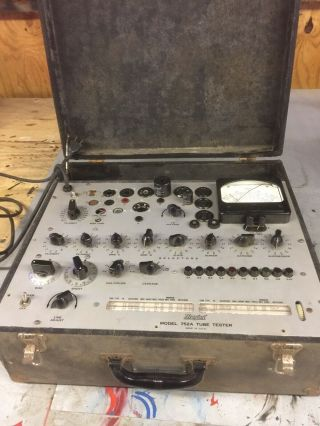 Hickok 752a Vintage Tube Tester.  As Found Needs Work
