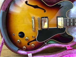 Gibson 1959 ES - 345 Stereo Sunburst with P.  A.  F 100 Vintage 11