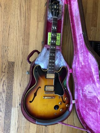 Gibson 1959 ES - 345 Stereo Sunburst with P.  A.  F 100 Vintage 2