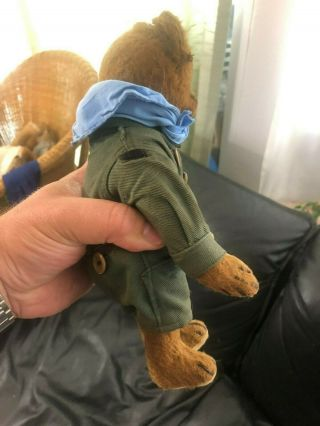 Very sweet Antique 1920 - 30s Small Mohair Bing Teddy Bear - Boy scout 6