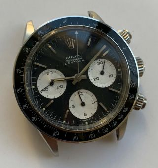 1960 ' s Vintage Rolex Cosmograph Daytona ref.  6240 with Black Dial 6239 6263 6265 3