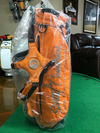 Scotty Cameron Rare Pin Flag Stand Bag Orange 2
