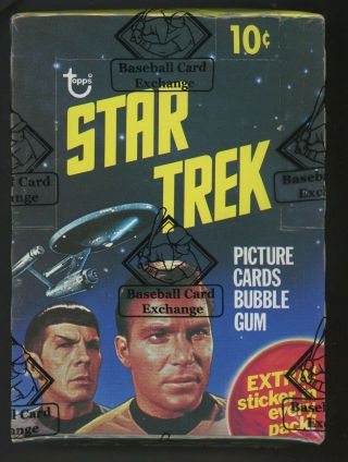 "1976 Topps Star Trek Wax Pack Box Bbce "" Rare """