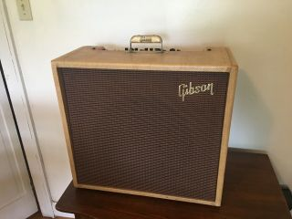 Vintage 1959 Gibson Ga - 80t Vanguard Amp,  Tweed.  Serviced Upgraded Rare.