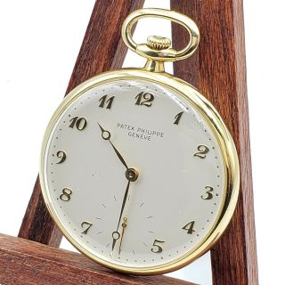 18k Patek Philippe Geneve Pocket Watch 18 Jewels