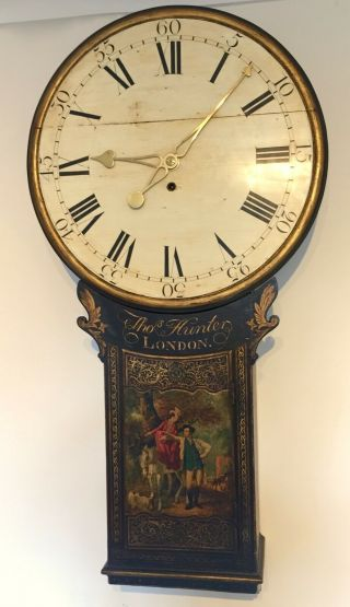 Small Tavern Or Act Of Parliament Clock,  (longcase Fusee Wall Antique)