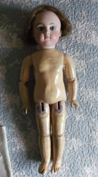 Steiner Serie C rare French doll pressed bisque,  closed mouth,  22.  5 inch 3