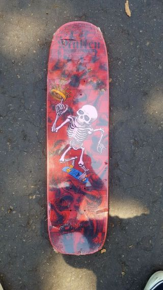 Vintage 1985 Powell Peralta Rodney Mullen Freestyle Skateboard Deck Red Nos