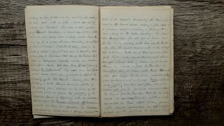 Circa 1855 Handwritten Travel Diary American By Horse & Steamship Holy Land Rare