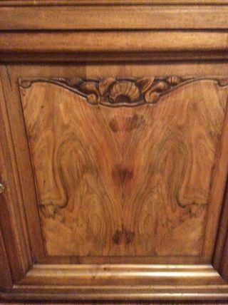 1920 Art Deco Buffet French Carved Walnut Marble Top 7