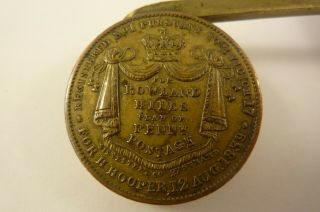Collectable,  rare Antique Letter Scale for Rowland Hills Penny Postage 1839 3