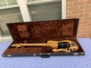 Extremely Rare Left - Handed 1979 Music Man Sabre Bass W/ Hardshell Case