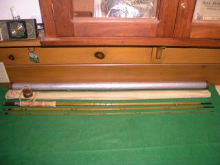 Lyle Dickerson 3ps.  1tp.  9 1/2 Ft.  Split Bamboo Fly Rod Serial Number 962013 - Sh