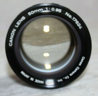 Very Rare Canon Dream Lens In E Mount 50mm 1:0.  95 Near Front Cap