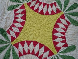 Pattern 19th c Whigs Defeat Twirling Bud Antique QUILT 5