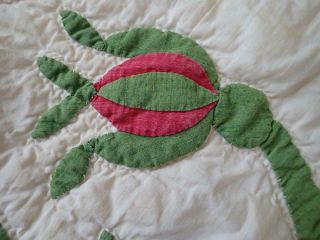 Pattern 19th c Whigs Defeat Twirling Bud Antique QUILT 9