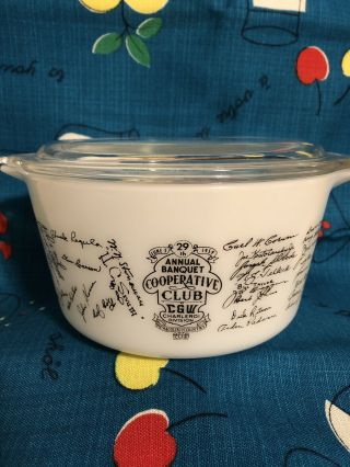 Rare Pyrex Nemacolin Country Club 473 Casserole