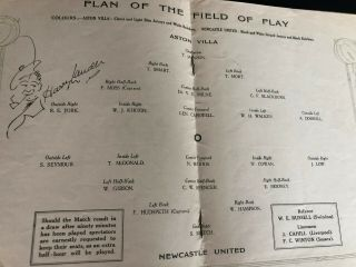 1924 FA CUP FINAL PROGRAMME NEWCASTLE UNITED V ASTON VILLA.  AS RARE AS THEY COME 2