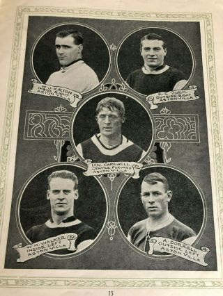 1924 FA CUP FINAL PROGRAMME NEWCASTLE UNITED V ASTON VILLA.  AS RARE AS THEY COME 3
