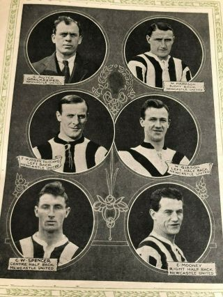 1924 FA CUP FINAL PROGRAMME NEWCASTLE UNITED V ASTON VILLA.  AS RARE AS THEY COME 5