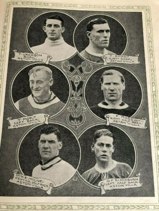 1924 FA CUP FINAL PROGRAMME NEWCASTLE UNITED V ASTON VILLA.  AS RARE AS THEY COME 6