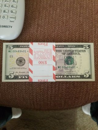 100 Consecutive Low Number Rare Star Notes 640,  000 Only 1 Run Of 640,  000