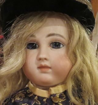 "Antique 21 "" French Bisque Schmitt & Fils Bebe W/mohair Wig,  Couture Outfit Doll"