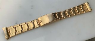 Vintage Rolex 20mm 18k Rose Gold Rivet Bracelet 1802 1803 6611 6062