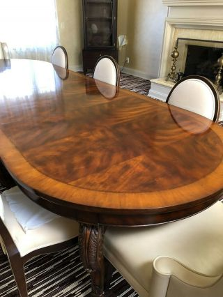 Ralph Lauren Large Dinning room Table Mahogany Wood with 8 chairs 3
