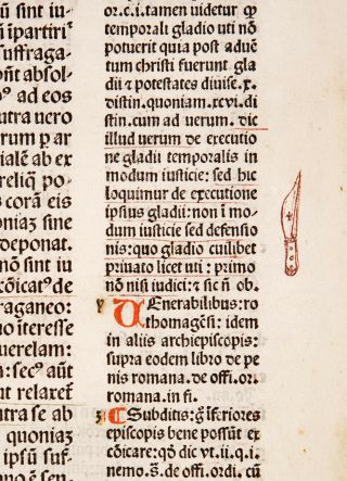 1491 DECRETALS Pope Boniface VIII MEDIEVAL CANON LAW incunable in GOTHIC BINDING 5