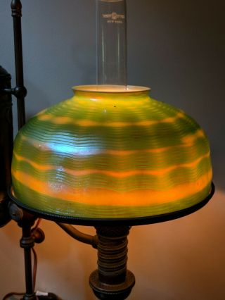 Antique Tiffany Studios Favrile Student Lamp Shade 10