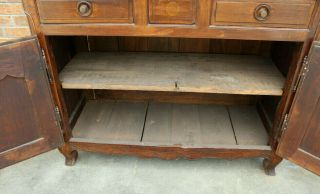 ANTIQUE EARLY 19TH C FRENCH COUNTRY WALNUT CUPBOARD CABINET VAISSELIER HUTCH 10
