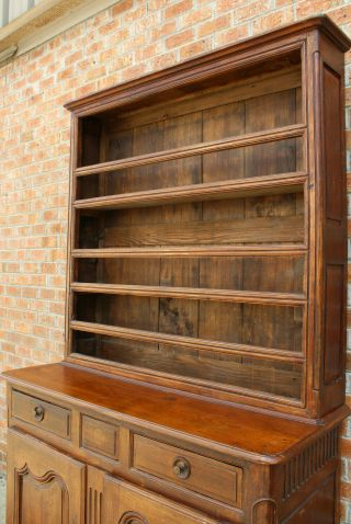 ANTIQUE EARLY 19TH C FRENCH COUNTRY WALNUT CUPBOARD CABINET VAISSELIER HUTCH 5