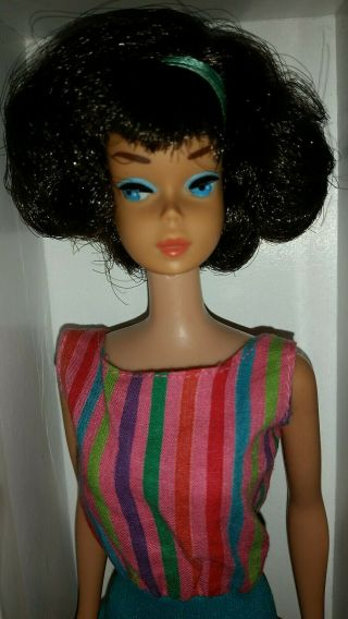 Vintage Barbie Low Color Midnight Sidepart American Girl,  OSS,  Japan OT 3 DAYS 2