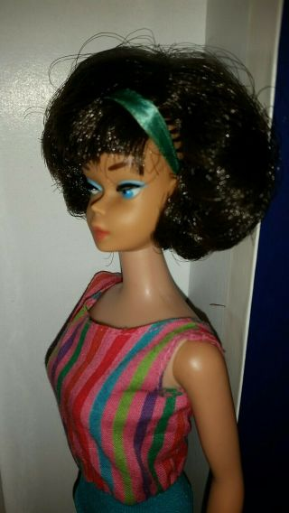 Vintage Barbie Low Color Midnight Sidepart American Girl,  OSS,  Japan OT 3 DAYS 6
