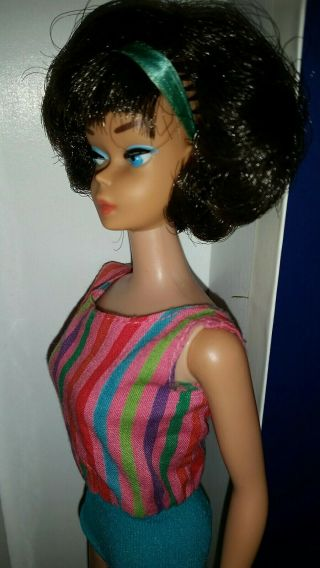 Vintage Barbie Low Color Midnight Sidepart American Girl,  OSS,  Japan OT 3 DAYS 7