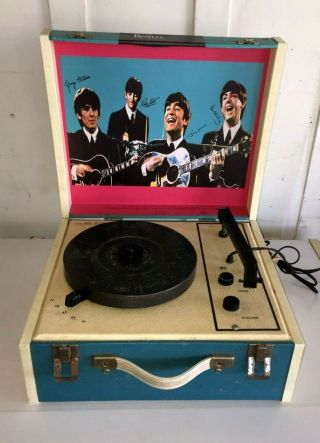 Vintage The Beatles Record Player Phonograph Turntable