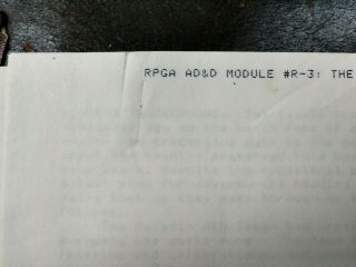 AD&D Signed Pre - Publication Module R3 - The Egg of the Phoenix - ULTRA RARE 5