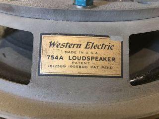Vintage Western Electric 754a Loud Speaker -