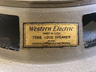 Vintage Rare Western Electric 728b Loud Speaker -