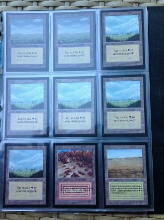 1993 magic the gathering (mtg) international collectors edition full set 9